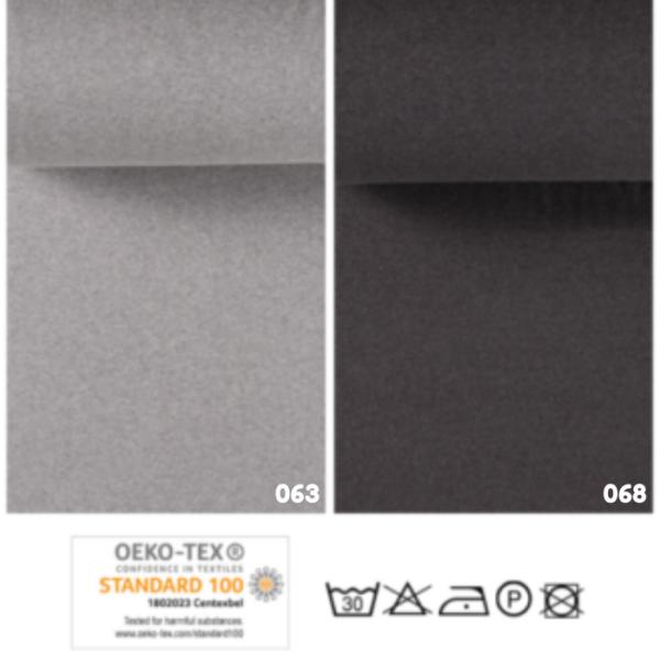 Boordstof effen grijs tinten