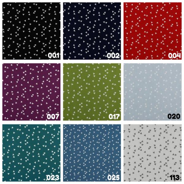 Katoen stof driehoek print