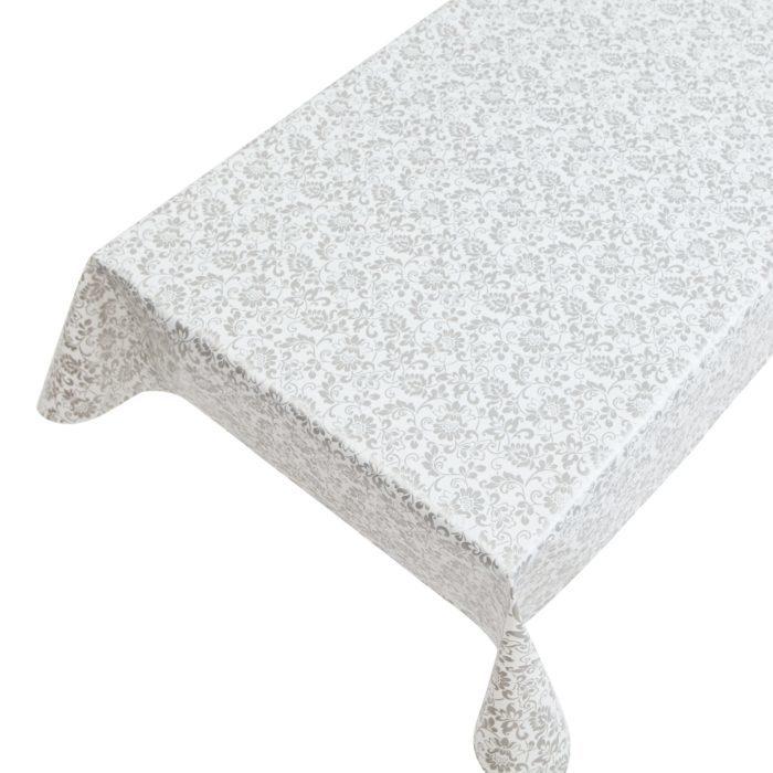 tafelzeil brocante print zilver