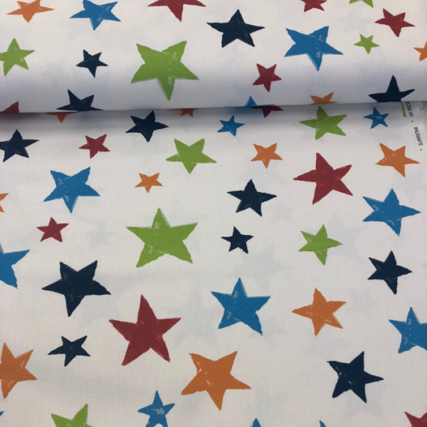 Digitale print sterren katoen