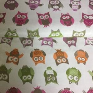 Gobelin decoratiestof uilen print