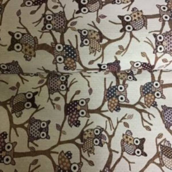 Gobelin decoratie stof uilen