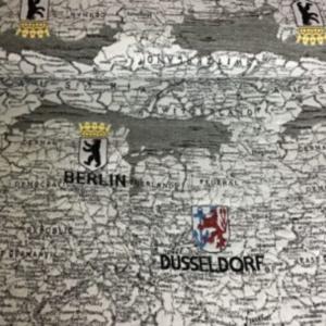 Gobelin meubelstof Duitse kaart