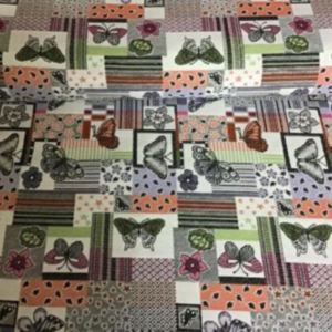Gobelin meubelstof vlinder print