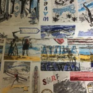 Gobelin meubelstof surf print