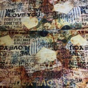 Gobelin meubelstof liefde print
