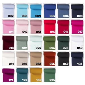 Boordstof effen vele kleuren