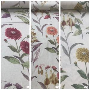 Decoratiestof digitale print bloemen
