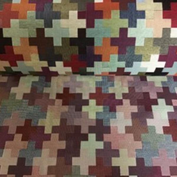 Gobelin meubelstof kruis print