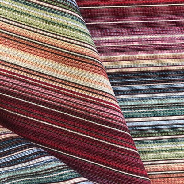 Gobelin meubelstof kleurrijk gestreept