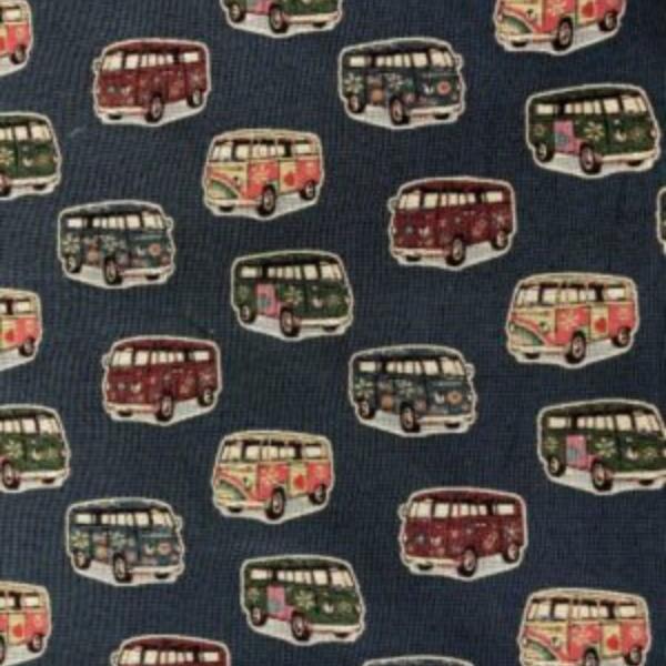 Gobelin meubelstof bussen print