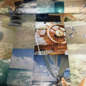 Digitale print katoen zee