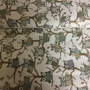 Gobelin meubelstof uilen print