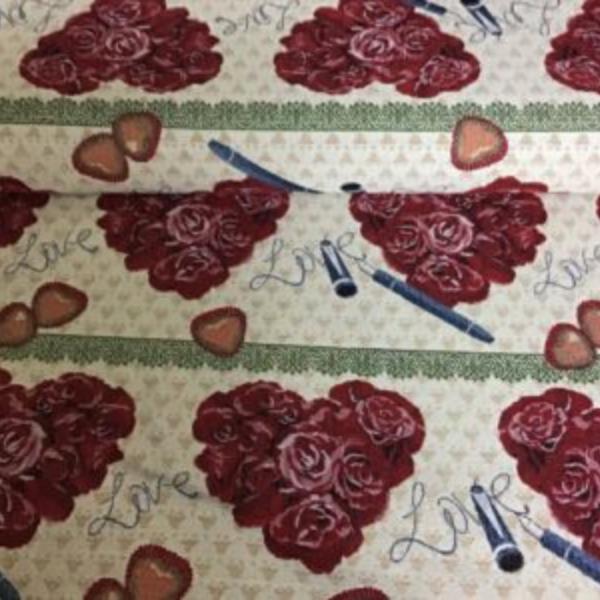 Gobelin meubelstof rozen print