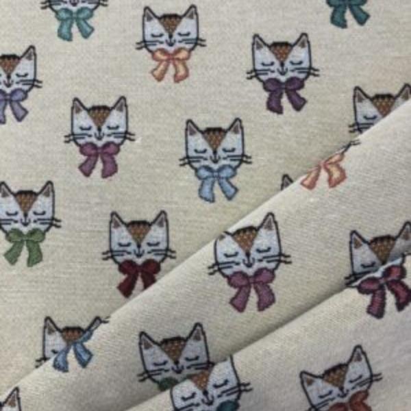 gobelin meubelstof katten print