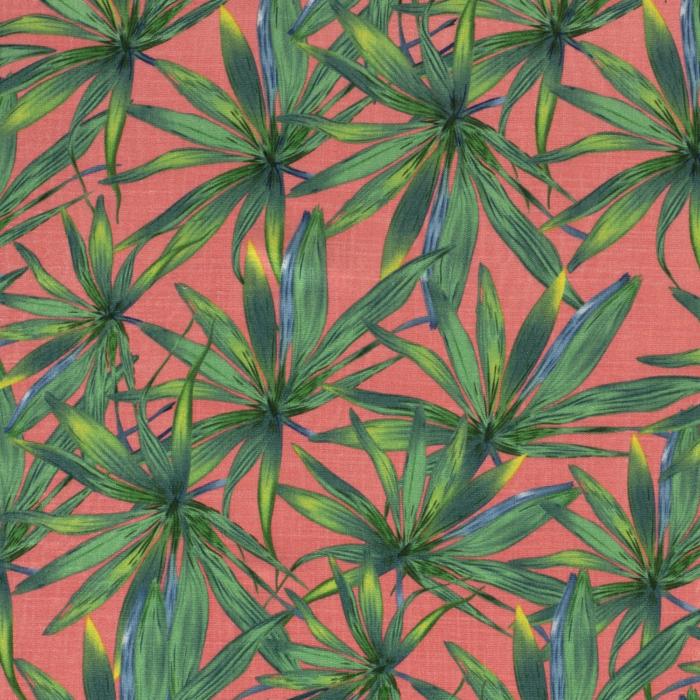 viscose stof bedrukt palmbomen