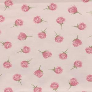 Katoen tricot rozen print