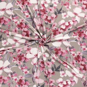 Jersey bloemen print stof