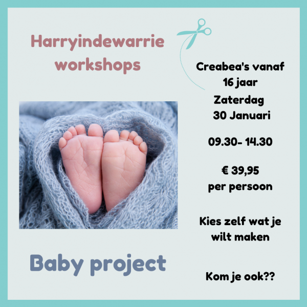 workshop creabea babyproject maken