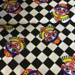Carnaval clown stof polyester