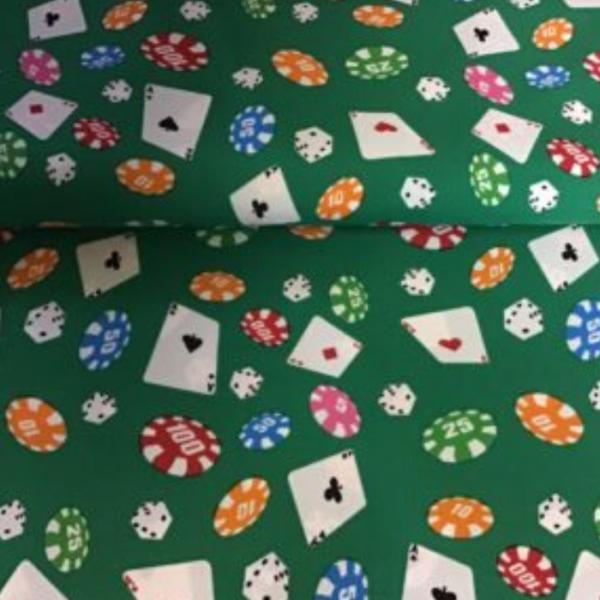 Carnavals stof polyester casino