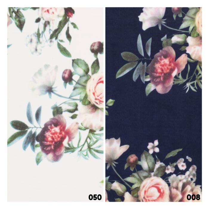 Viscose scuba bloemen print