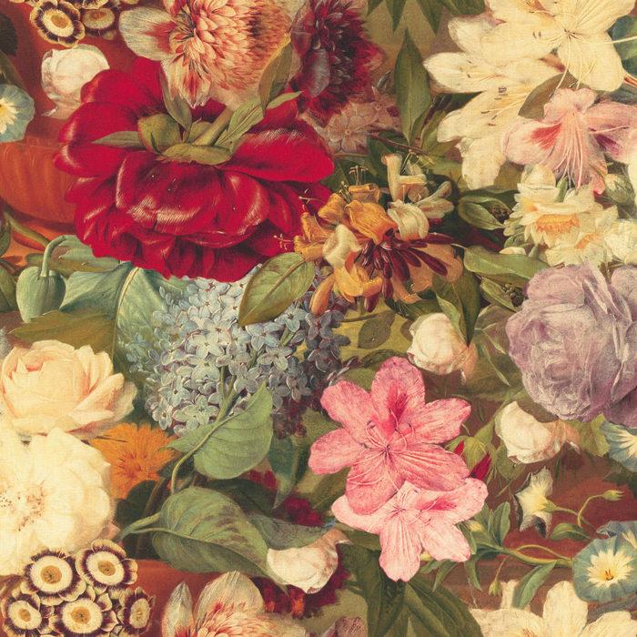 digitale print bloemenpracht katoen