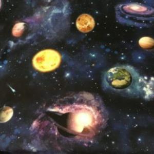 Digitale print heelal katoen