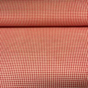 Ruitje rood katoen stof