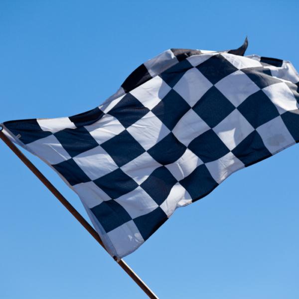 finish vlag stof zwartwit
