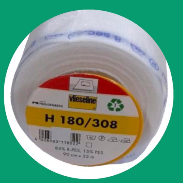 Vlieseline H180 opstrijkbaar wit
