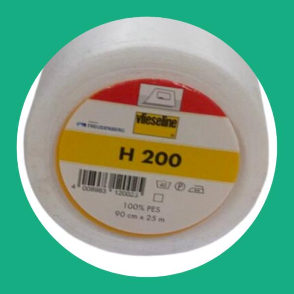 Vlieseline H200 opstrijkbaar wit