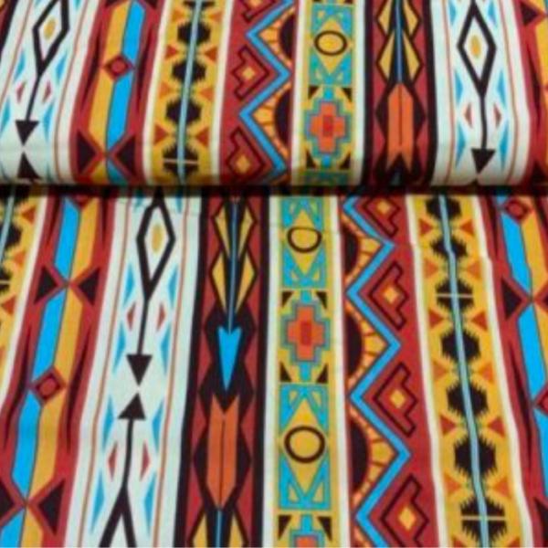 Indiaan print polyester stof
