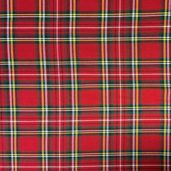 Schotse ruit rood stof