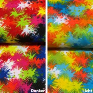 Vuurwerk print polyester stof
