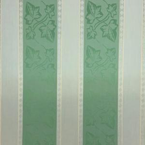 Markiesdoek gestreept groen bladeren