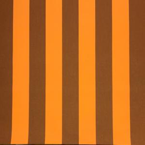 Markiesdoek strepen oranje bruin