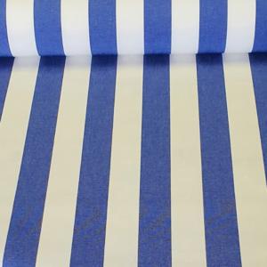 Outdoorstof blauw wit gestreept