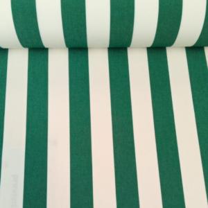 Outdoor stof groen wit gestreept