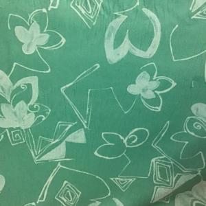 Velours katoen groen blad