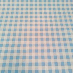 tafelzeil geblokt lichtblauw wit