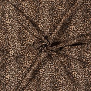 Viscose stof luipaard print