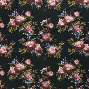 Crêpe stof bloemen print