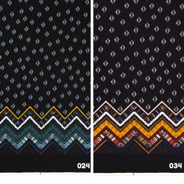 Jersey print rand stof