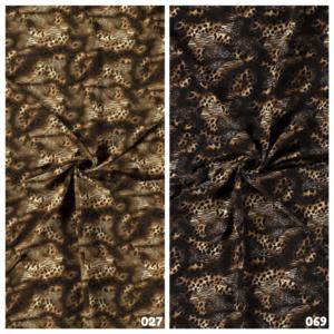 crêpe stof dieren print