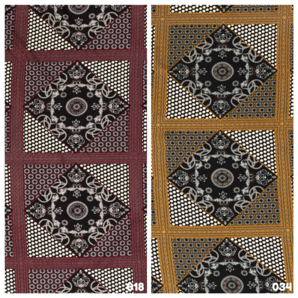 Viscose stof patchwork print