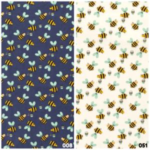 Poplin katoen bijen print