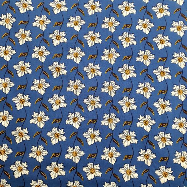 Katoen margriet bloem blauw