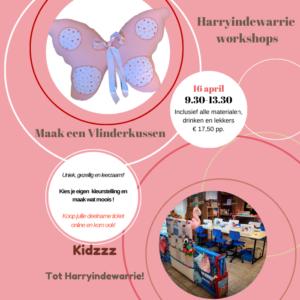 Workshop kinderen vlinderkussen maken