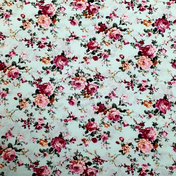 Katoen bloem mint roze